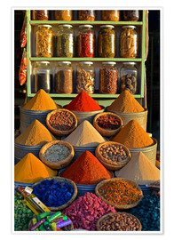 Premium poster  Spices from Morocco - HADYPHOTO