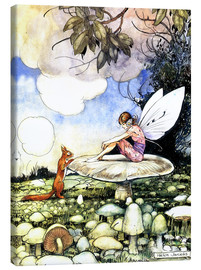 Canvas print  Fairy and squirrel