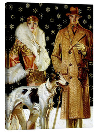 Canvas print  Couple with Greyhound - Joseph Christian Leyendecker