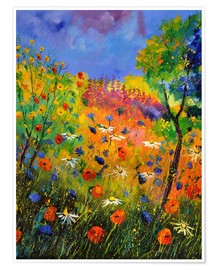 Premium poster  Meadow with wildflowers - Pol Ledent