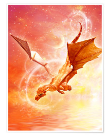 Premium poster  Dragon Flight - Dolphins DreamDesign