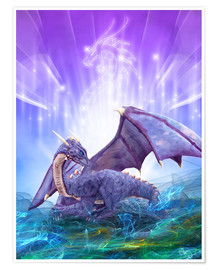 Premium poster  Dragon Energy - Dolphins DreamDesign