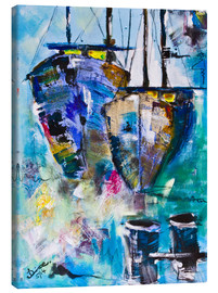 Canvas print  coloured Boats - Diana Linsse