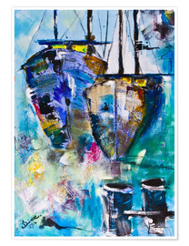 Premium poster  coloured Boats - Diana Linsse
