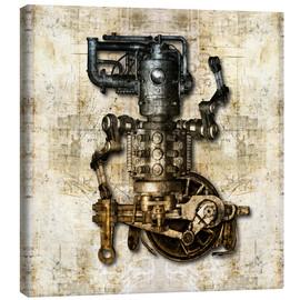 Canvas print  Antique mechanical figure - diuno