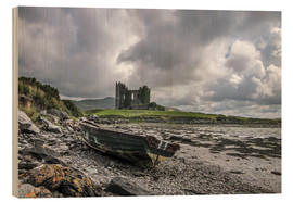 Wood print  Ballycarbery Castle, County Kerry, Ireland - Christian Müringer