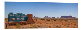 Foam board print  Monument Valley USA Panorama III - Melanie Viola