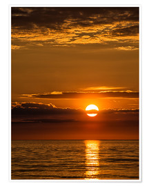 Premium poster Sunset on shore of the Baltic Sea