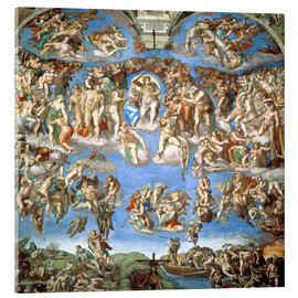 Acrylic print  The Last Judgement - Michelangelo