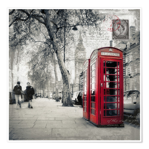 Premium poster Postcard From London 01
