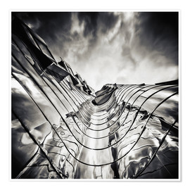 Premium poster Gehry Duesseldorf | 03 (monochrome)