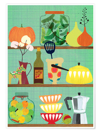 Premium poster  Kitchen shelf 02 - Elisandra Sevenstar
