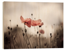 Wood print  Poppies 03 - Nailia Schwarz