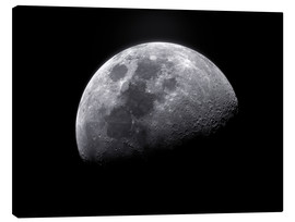 Canvas print  Waxing gibbous moon - Roth Ritter