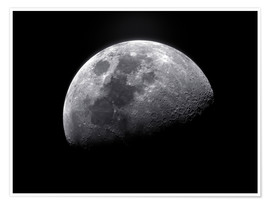Premium poster  Waxing gibbous moon - Roth Ritter