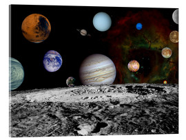 Acrylic print  Montage of the planets