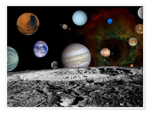 Premium poster Montage of the planets