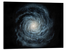 Acrylic print  face-on view of the Milky Way - Ron Miller