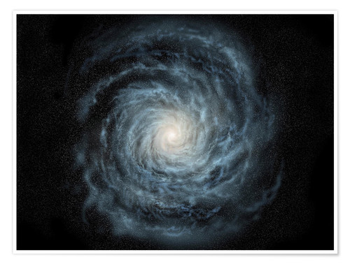 Premium poster face-on view of the Milky Way