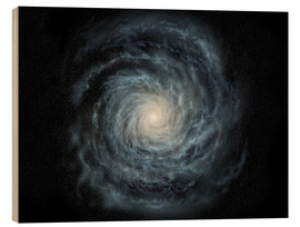 Wood print  face-on view of the Milky Way - Ron Miller