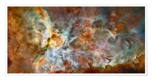 Premium poster The central region of the Carina Nebula