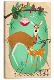 Canvas print  Merry Christmas Deer - Elisandra Sevenstar