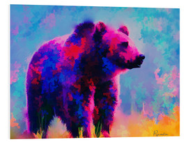 Foam board print  Grizzly Bear - Rosalina Nikolova