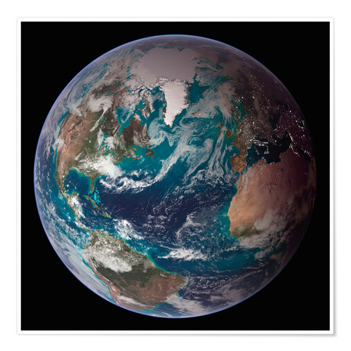Premium poster A full view of Earth