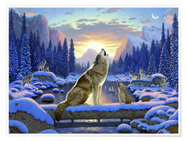 Premium poster  Wolf learns the howling - Chris Hiett