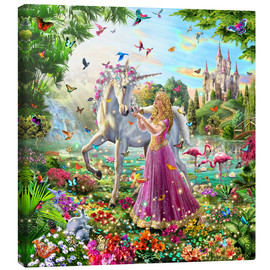Canvas print  Princess and the unicorn - Adrian Chesterman