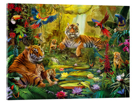 Acrylic print  Tiger Family in the Jungle - Jan Patrik Krasny
