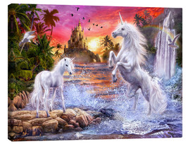 Canvas print  Unicorn waterfall sunset - Jan Patrik Krasny