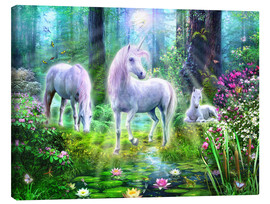 Canvas print  Forest unicorn family - Jan Patrik Krasny