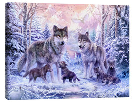 Canvas print  Winter wolf family - Jan Patrik Krasny
