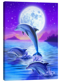Canvas print  Dolphins at midnight - Robin Koni