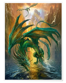Premium poster  Dragon of the lake - Dragon Chronicles