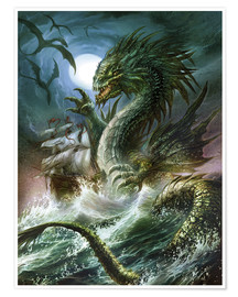 Premium poster  The sea serpent - Dragon Chronicles