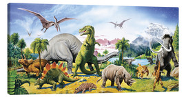 Canvas print  Land of the dinosaurs - Paul Simmons