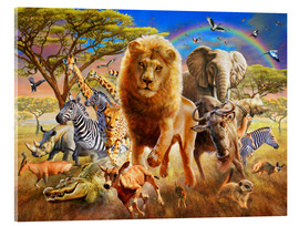 Acrylic print  African Stampede - Adrian Chesterman