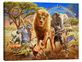 Canvas print  African Stampede - Adrian Chesterman