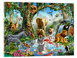 Acrylic print  The paradise of animals - Adrian Chesterman