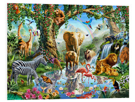 Foam board print  The paradise of animals - Adrian Chesterman