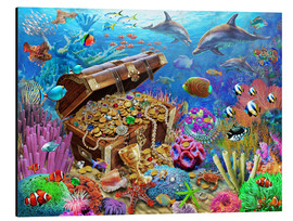 Aluminium print  Undersea Treasure - Adrian Chesterman