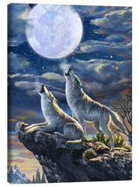 Canvas print  Midnight Wolves - Adrian Chesterman