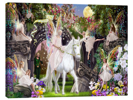 Canvas print  Fairy Queen with unicorn - Garry Walton
