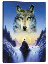 Canvas print  Cosmic wolf - Andrew Farley