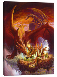 Canvas print  Children of the Dragon - Jeff Easley