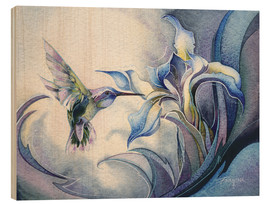 Wood print  Look for the magic - Jody Bergsma