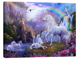 Canvas print  Mystic unicorn castle - Jan Patrik Krasny