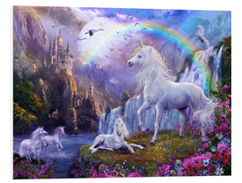 Foam board print  Mystic unicorn castle - Jan Patrik Krasny